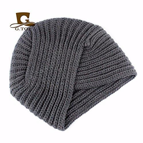 Hecha Punto Sombreros India De Mano Baotou grau La Moda Sombrero Gorros Para OSISDFWA De A Sombreros in Black Baotou 5WYqAaxR