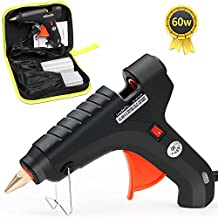 LeaderPro Hot Glue Gun, 60W Hot Melt Glue Gun Kits, High Temp Heavy Duty with 20 PCS Glue Sticks and Tool Bag for DIY, Arts & Crafts Projects, Sealing and Quick Repairs For Home/Office
