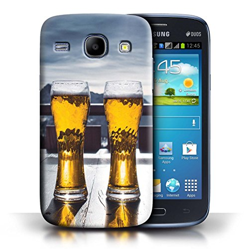 Freeride Core Skis (STUFF4 Phone Case / Cover for Samsung Galaxy Core / Ski Lodge/Beer Design / Skiing/Snowboarding Collection)