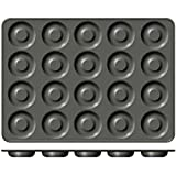 : Wilton Industries Perfect Results 20-Cavity Mega Donut Pan, No Color