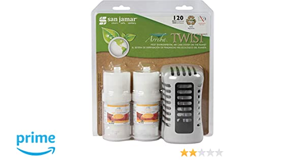 San Jamar WP1202MB Arriba Commercial Twist Passive Mango Burst Air Freshener Retail Case: Amazon.com: Industrial & Scientific