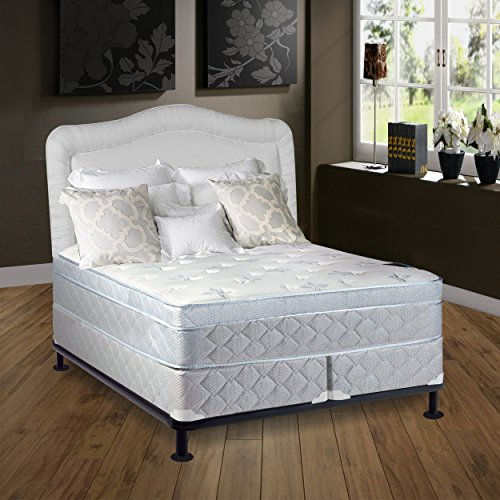 Continental Sleep Mattress, 10″ Plush  Pillowtop Eurotop , Fully Assembled Othopedic Full XL Mattress and 8-Inch Split Box Spring,Luxury Collection