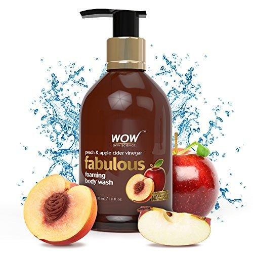 - WOW Peach & Apple Cider Vinegar No Parabens & Sulphates Shower Gel, 300mL