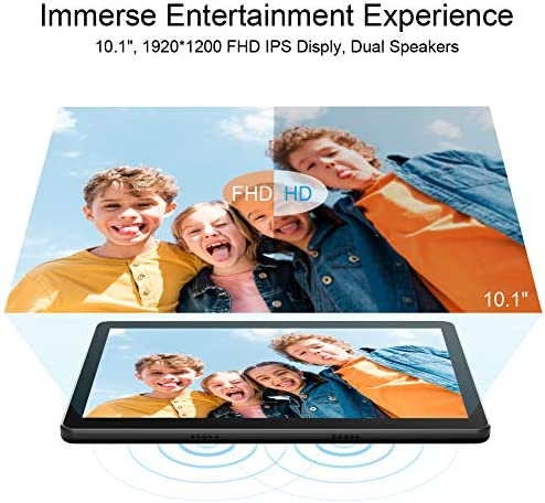 Dragon Touch Max10 Tablet, Android 9.0 Pie, Octa-Core Processor, 10 inch Android Tablets, 32GB Storage, 1200×1920 IPS HD G+G Display, 5G WiFi, USB Type C Port, Metal Body Black 51Qh6lcVWiL