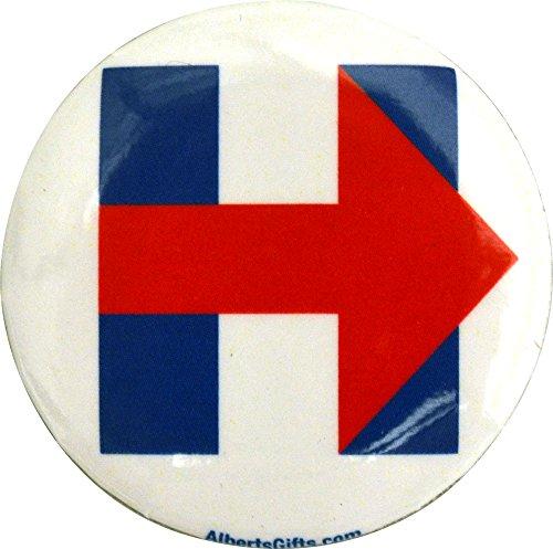 Hillary Clinton Red Arrow Button 1.25