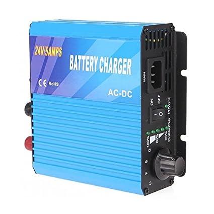 Cargador de batería 24V 5A: Amazon.es: Bricolaje y herramientas