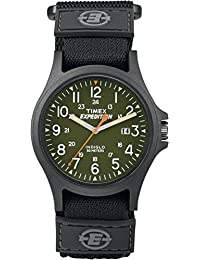 Timex TW4B00100GP Acadia Camper Green Dial and Velcro Grey Strap Watch