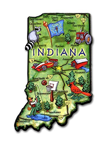ARTWOOD MAGNET - INDIANA STATE MAP