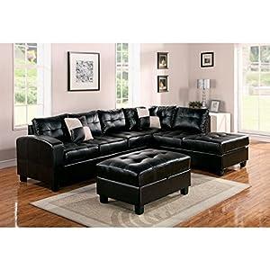 Acme Furniture Kiva 51195 Sectional Sofa with 2 Pillows