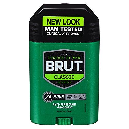 Brut Antiperspirant, Solid Oval, 2 Ounces (Pack of (Brut Deodorant Cologne)