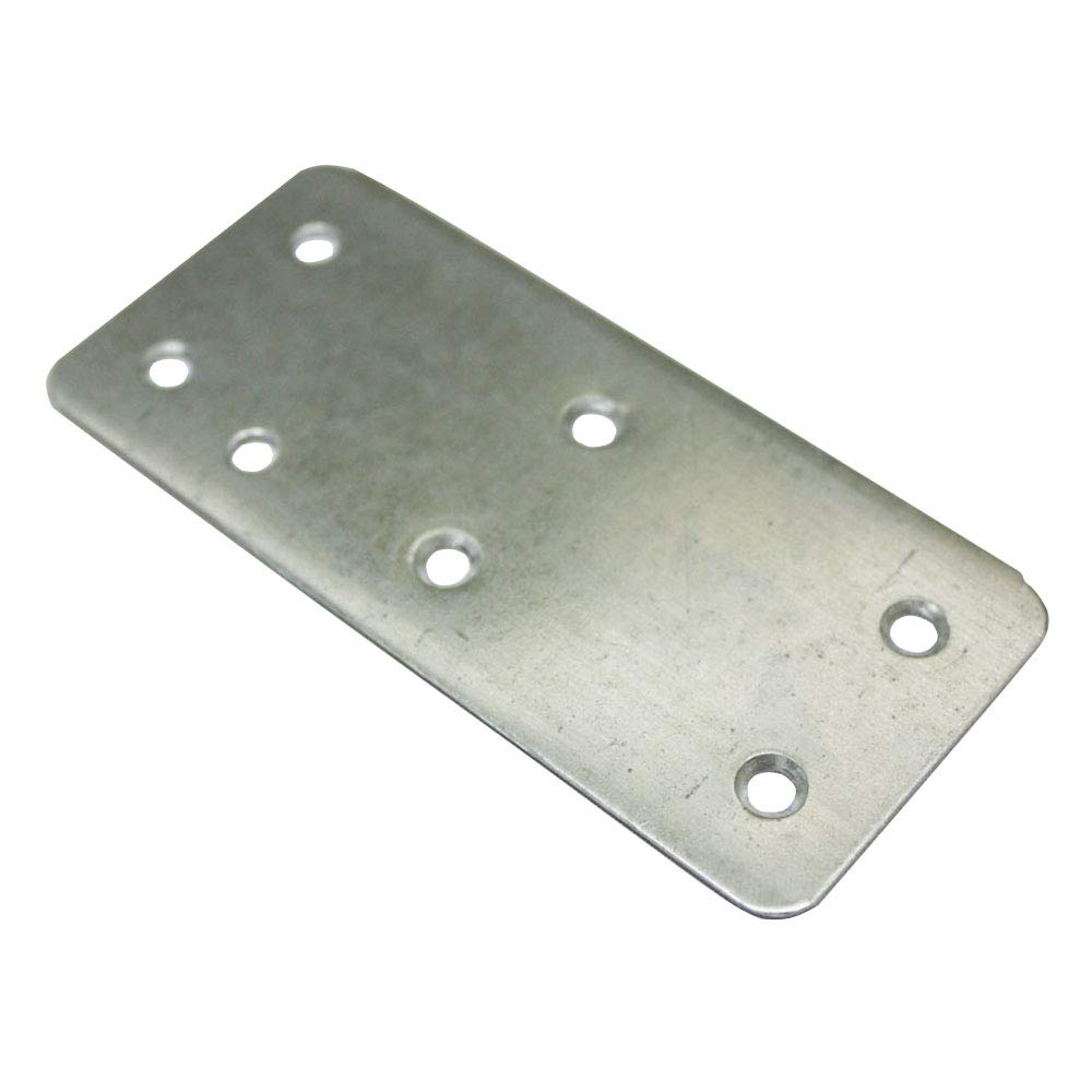 Silver Iron 100mm x 45mm Flat Braces Brackets 4'' Hardware for Box Furniture Cabinet KN-0082