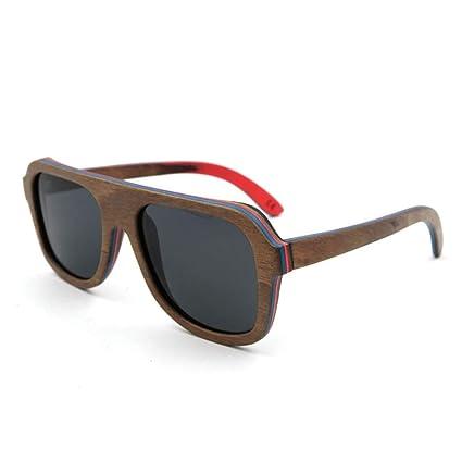 Amazon.com: Gafas de sol de estilo vintage de madera ...