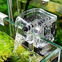 B&K Aquarium Hang On Filter Water Oxygen Circulation Pump Fish Tank Waterfall Water External Filtration - 3.5W (1 year…