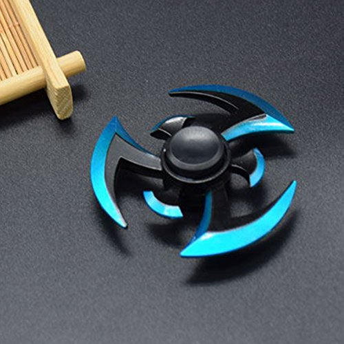 NEREIDS NET High Speed Alloy Tri Spinner Hand Spinner Finger Toy for Focus Anxiety Stress Autism Toys Blue