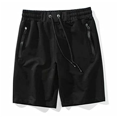 Men's Shorts with Pockets Cotton Drawstring Shorts Summer Solid Plus Size M-5XL Short Pants for Man