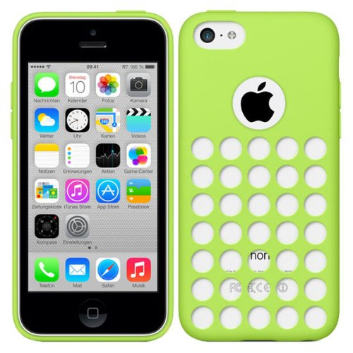 RT-TRADING Apple iPhone 5C Premium Punkt TPU Case Hülle Cover Tasche in Grün