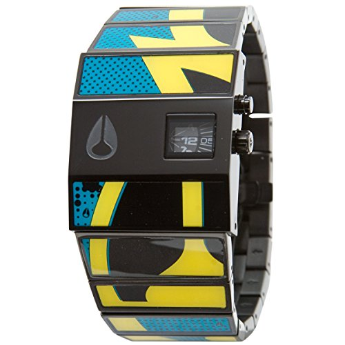 Nixon Rotolog Watch   Mens Blue Yellow Graphic  One Size