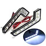 KATUR 2Pcs 8 LED Style Car DRL Daytime Running White Front Fog Lamp Light For Mercedes-Benz 12V