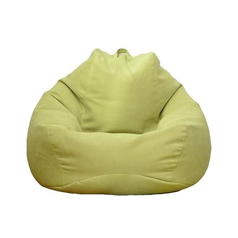 GQJQWE Lazy Bean Bag Sofás Cubierta Sillas sin Relleno Paño ...