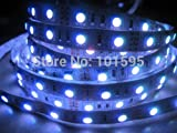 Corcrest(TM) Non Waterproof 5050 RGB Led Strip Light Tape 5M 300leds SMD DC12V 5A Adapter 44Key Remote Controller