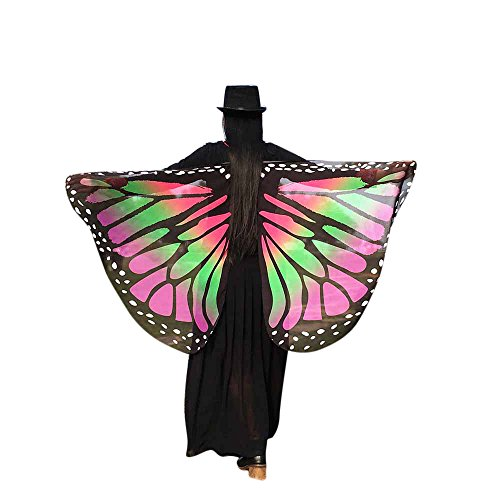 Prop Soft Fabric Butterfly Wing Shawl Fairy Ladies Nymph Pixie Costume Accessory(AW,one Size) for $<!--$1.25-->