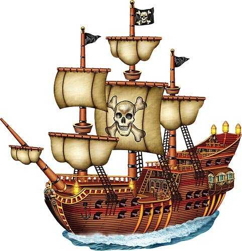 Beistle Jointed Pirate Ship -