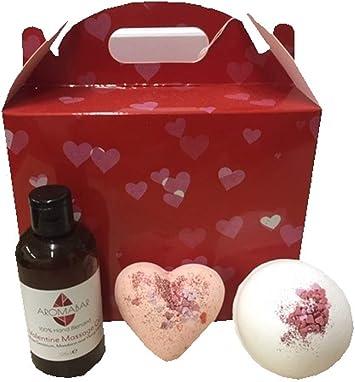 Regalo De San Valentín Set Sensual Aceite De Masaje & Bombas De ...