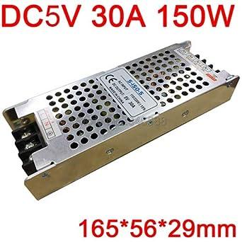 Utini AC110V 220V to DC5V AC-DC Constant Voltage Driver Switch Power Supply Extra-Thin Slim Type 5V 4A 20A 30A 60A 70A Power Supply Color: 5V 40A 200W