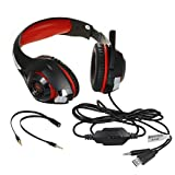 YRD Tech for PS4 GM-1 Gaming Headset Wired Earphone Gamer Headphone with Microphone 丨 Suitable for iPhone 6/6 Plus,Samsung S5,S4,LG,Xiaomi,iPad,PC,Laptop,Tablet丨 (red)