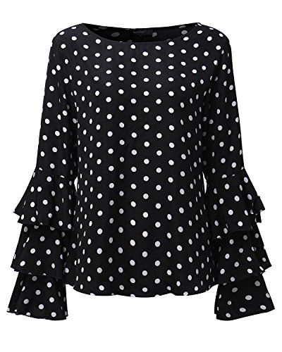 Victorian Sleeve Polka Dot Top