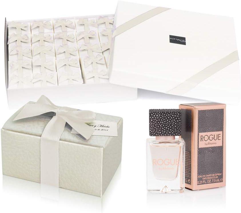 Pack 24 perfumes miniaturas originales de mujer como detalles para bodas colonias Rihanna Rogue Eau de parfum 7,5 ml. spray personalizados para regalar invitados primera comunión y bautizo: Amazon.es: Hogar