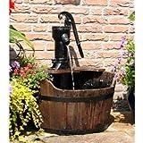 Apollo Newcastle - Fontana da giardino a forma di botte, con pompa