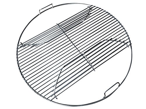 Weber Performer Grill Parts - Grillvana 22 Inch 201 Stainless Steel 4mm Hinged Grilling/Cooking Replacement Grate for Weber 22