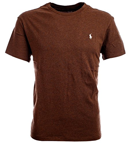 Brown Classic Logo T-shirt (Polo Ralph Lauren Men's Logo Pony Crew T-Shirt-Brown-Medium)
