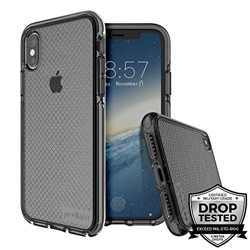 Prodigee [Safetee] iPhone Xs Max 6.5'' Protective Case Smoke -Soft Silicone Bumper Transparent Military Grade Certified Drop Shock Test