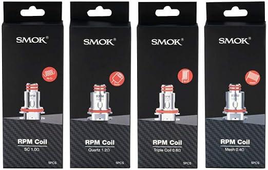 Smok RESISTENCIAS RPM40 POD Kit Triple 0.6OHM Pack 5 UDS Producto SIN NICOTINA *|: Amazon.es: Hogar
