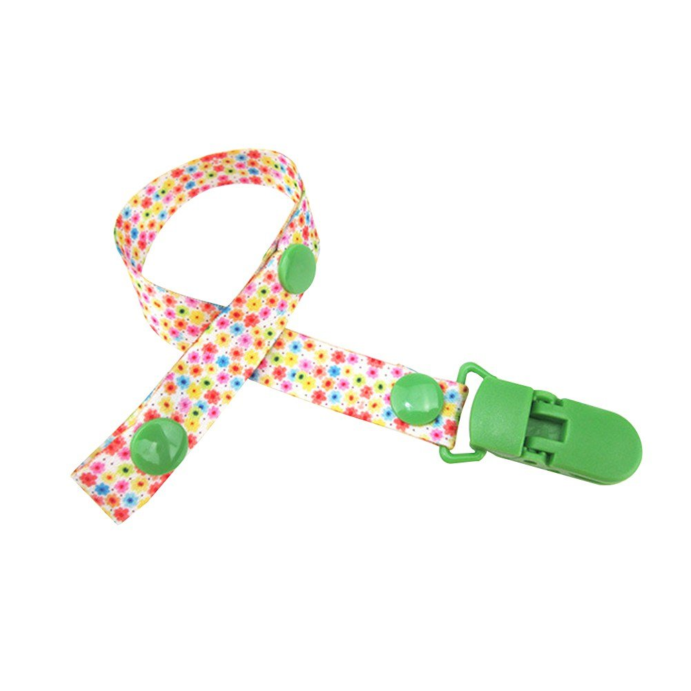 BOBORA Dummy Clips Pacifier Holder for Baby Girls and Boys - Multicoloured BON-N-1557A14