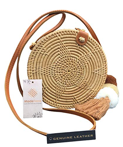 Made Terra Rattan Straw Crossbody 8