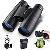 BNISE Binoculars for Adults Compact, 10X42 HD Professional, BAK4 Prism FMC Lens, Suitable for Outdoor Travel, for Bird Watching, for Hunting, Concerts, with Smartphone Adapter