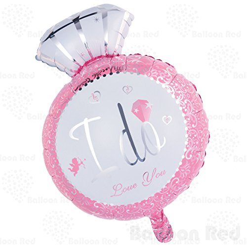 [Giant Diamond Engagement Ring Helium Foil Mylar Balloon for Wedding Proposal Bridal Shower Party, 29 Inch, Pink] (Blow Up Costumes From The 80's)