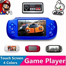 Best seller 4.3'' LCD Touch Screen 8GB 32bit Li-On Battery MD/NES/Arcade Portable Handheld Video Games Player MP4 MP5 MP3 _Blue