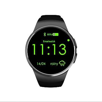 Reloj Intelligent Bluetooth Relojes Deportivo Smartwatch Monitor de Dormir,Monitor de Calorías,Podómetro,Monitor Cardio Pantalla Táctil Soporte Caminar o ...