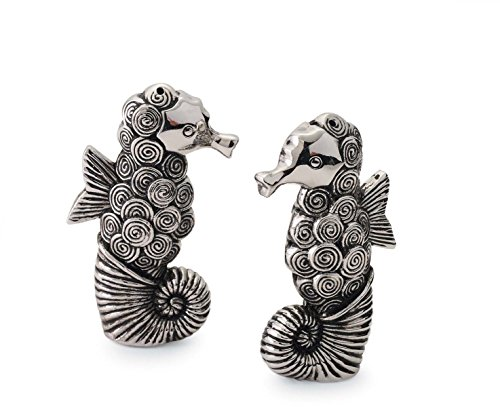Mud-Pie-108450-Seahorse-Salt-and-Pepper-Set-Silver