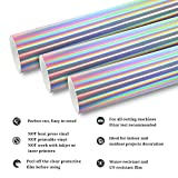 "TECKWRAP Glossy Holographic Silver Chrome Vinyl 11"" x 10ft"