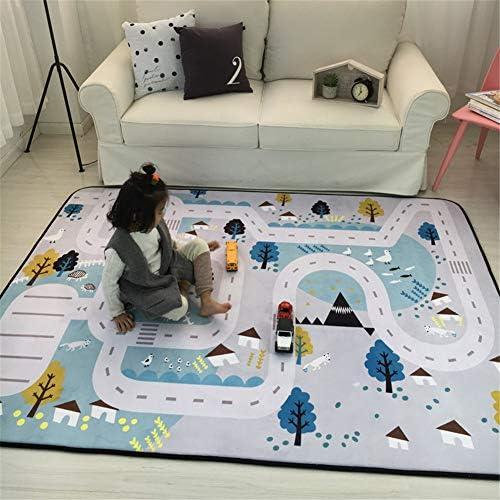 YVSoo Alfombra de Juegos para beb/és gatear XXXL Tapete de juego Alfombra grande para Ni/ños Alfombra de seda LDPE impermeable 200 x 180 x 1 cm