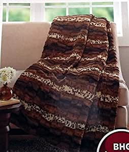 Better Homes And Gardens Faux Fur Throw Blanket 50x60 Mixed Leopard Home Kitchen