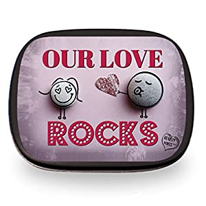 Our Love Rocks Mints – Cute Gift for Wife Fun Easter Gifts for Adults Stocking Stuffers for Men I Love You Gifts for Lovers Chocolate Breath Mints Valentines Gifts for Anniversary Just Because