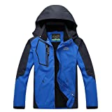 BENNINGCO Couple Breathable Softshell Outdoor Windbreaker Hiking Jacket with hood
