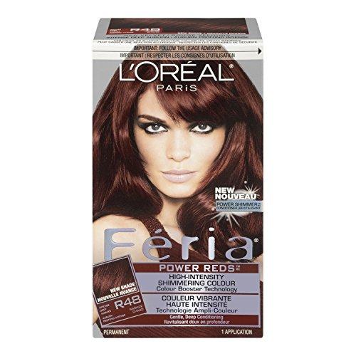 L Oreal Feria Power Reds Hair Color R48 Intense Deep