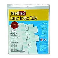 Pestañas de índice imprimibles por láser personalizables Redi-Tag, adhesivo permanente, 1-1 /8 x 1-1 /4 pulgadas, empaquetadas a granel, 375 pestañas por paquete, blanco (39017)